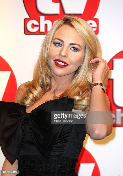 Lydia Bright attends the TV Choice Awards 2015 at Hilton Park Lane on September 7 2015 in London England