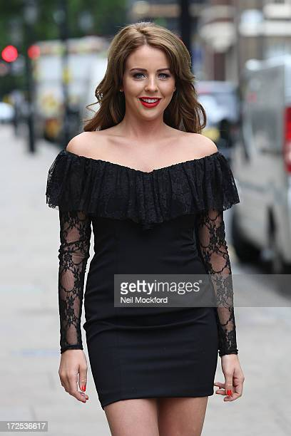 Lydia Bright modelling one of her dresses from her Lipstick Boutique Autumn/Winter Collection on July 3 2013 in London England