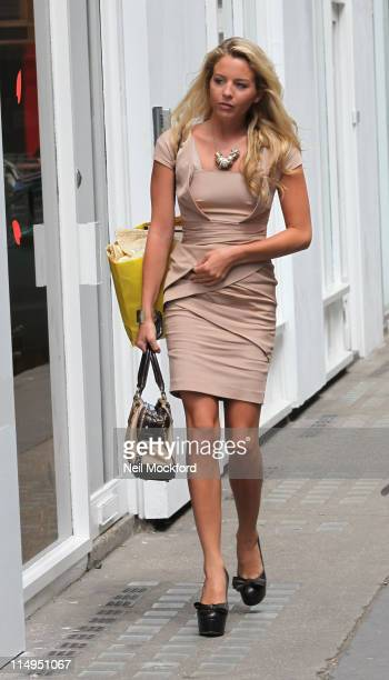 Lydia Bright sighted arriving at an office on May 31, 2011 in London, England. Lydia was seen wearing the £175 Reiss dress that instantly sold out...