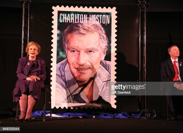 Lydia Clarke wife of Charlton Heston at the dedication of the Charlton Heston forever stamp at the TCM Classic Film Festival at the Chinese Theater...