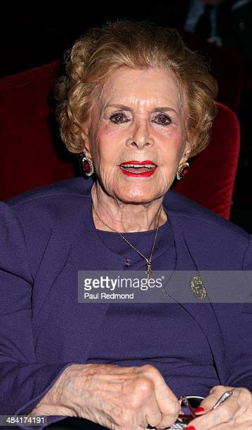 Lydia Clarke wife of Charlton Heston attends the Dedication Ceremony For Charlton Heston Forever Stamp at the 2014 TCM Classic Film Festival at TCL...
