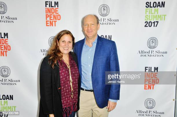 Lydia Dean Pilcher and Vice President of the Alfred P Sloan Foundation Doron Weber attend Sloan Film Summit 2017 Day 3 on October 29 2017 in Los...
