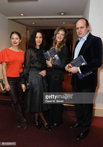 Lydia Forte Katya Zemtsova Martha Fiennes and Henry Cobbe attend the Russian Ballet Icons Gala 2018 at London Coliseum on February 25 2018 in London...
