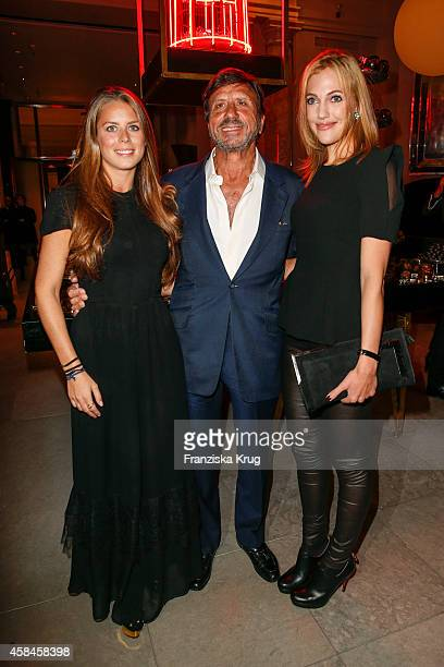 Lydia Forte Sir Rocco Forte and Meryem Uzerli attend the ReOpening of the 'La Banca' restaurant at Hotel de Rome on November 05 2014 in Berlin Germany