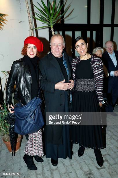 Lydia Goldberg Faycal Amor and Bianca Li attend Alaia Foundation Library Opening at Gallery Azzedine Alaia on November 10 2018 in Paris France