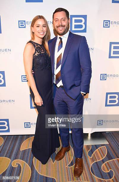 Lydia Gray and agent Michael Kives attend the Berggruen Institute 5 Year Anniversary Celebration at The Beverly Wilshire on May 3 2016 in Los Angeles...