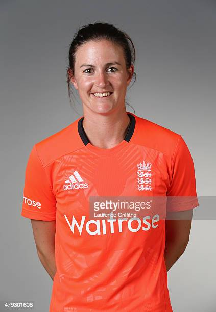 Lydia Greenway of England poses for a portrait at the National Cricket Performance Centre on July 1 2015 in Loughborough England