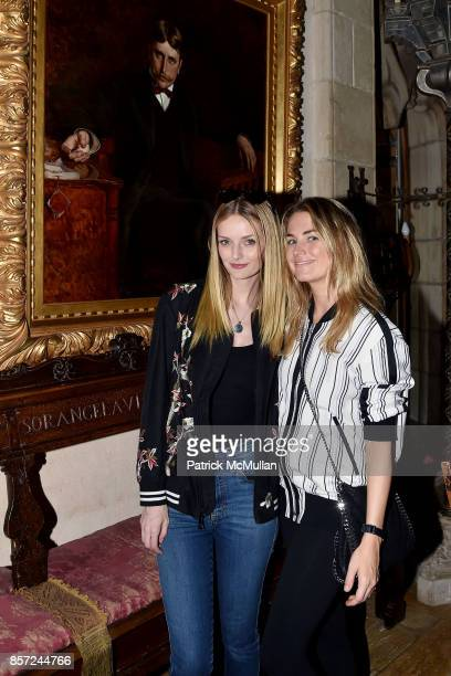 Lydia Hearst and Amanda Hearst attend Hearst Castle Preservation Foundation Associate Trustees' Tour at Hearst Castle on September 28 2017 in San...
