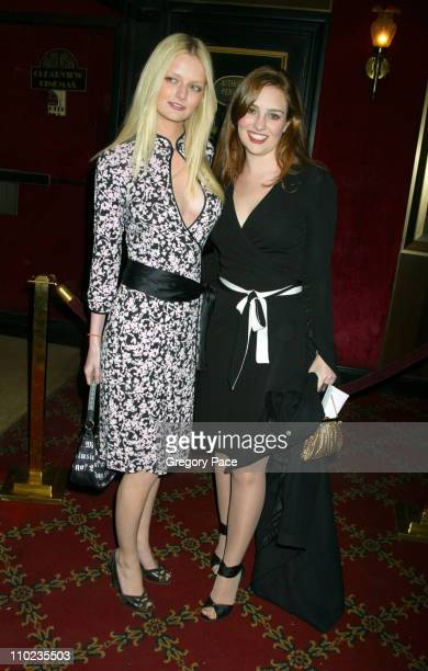 Lydia Hearst and Gillian Hearst during 'Beyond The Sea' New York Premiere Arrivals at Ziegfield Theater in New York City New York United States