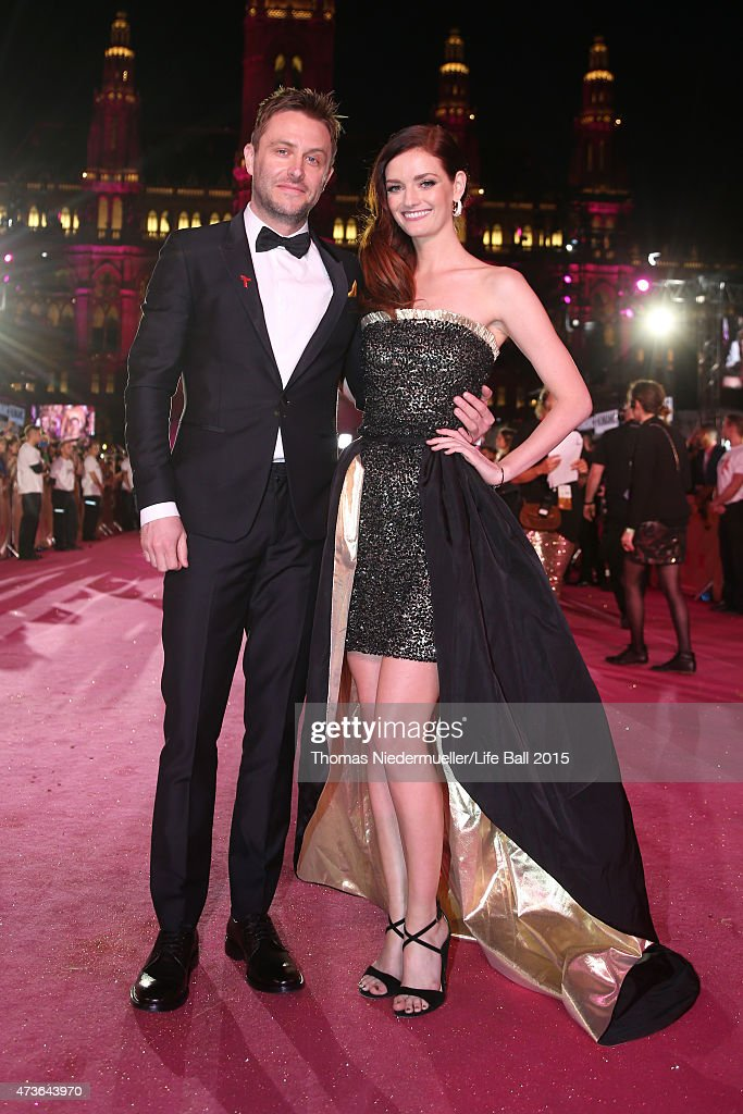 Lydia Hearst and her partner Chris Hardwick attend the Life Ball 2015 at City Hall on May 16, 2015 in Vienna, Austria.