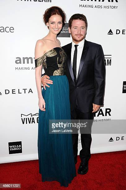 Lydia Hearst and Kevin Connolly attend the amfAR Inspiration Gala at Milk Studios on December 12 2013 in Hollywood California