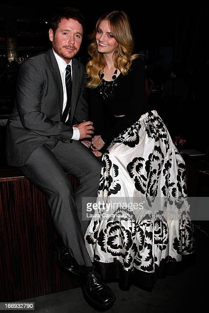 Lydia Hearst and Kevin Connolly attend the New York Observer's 2013 Young Philanthropy event at PH-D Rooftop Lounge at Dream Downtown on April 18,...