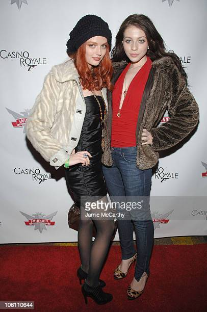 Lydia Hearst and Michelle Trachtenberg during Smirnoff Vodka Casino Royal and DJ AM Host Shaken and Stirred DJ Contest at Tenjune in New York City...