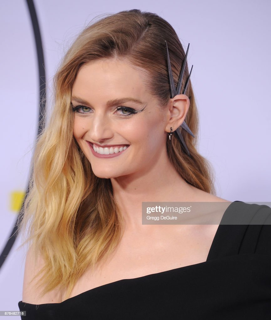 Lydia Hearst arrives at the 2017 American Music Awards at Microsoft Theater on November 19, 2017 in Los Angeles, California.