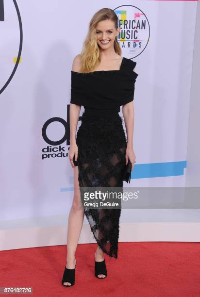 Lydia Hearst arrives at the 2017 American Music Awards at Microsoft Theater on November 19 2017 in Los Angeles California