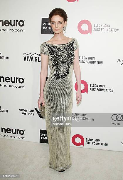Lydia Hearst arrives at the 22nd Annual Elton John AIDS Foundation's Oscar viewing party held on March 2 2014 in West Hollywood California
