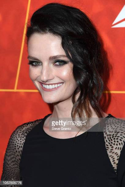 Lydia Hearst arrives at the amfAR Gala Los Angeles 2018 at Wallis Annenberg Center for the Performing Arts on October 18 2018 in Beverly Hills...