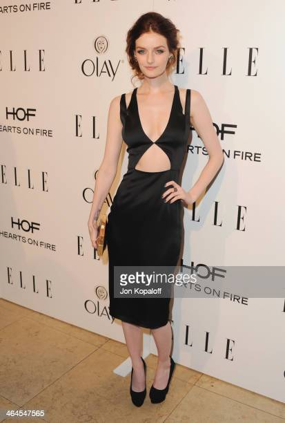 Lydia Hearst arrives at the ELLE Women In Television Celebration at Sunset Tower on January 22, 2014 in West Hollywood, California.