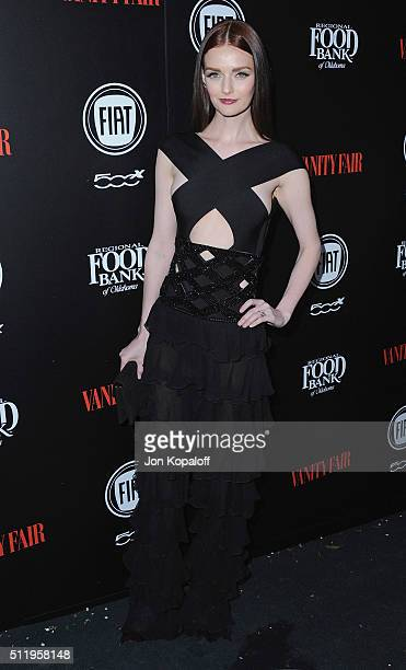 Lydia Hearst arrives at Vanity Fair And FIAT Toast To 'Young Hollywood' at Chateau Marmont on February 23 2016 in Los Angeles California