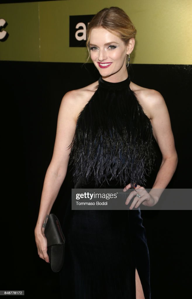 Lydia Hearst at AMC, BBCA and IFC Emmy party at BOA Steakhouse on September 17, 2017 in West Hollywood, California.