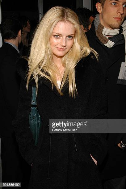 Lydia Hearst attends Another Magazine and Gran Centenario Tequila Celebrate Issue 8 with Cover Star Drew Barrymore at Ono on February 6 2005 in New...