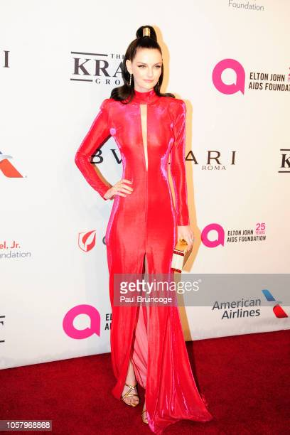 Lydia Hearst attends Elton John AIDS Foundation's 17th Annual An Enduring Vision Benefit at Cipriani 42nd Street NYC on November 5 2018 in New York...