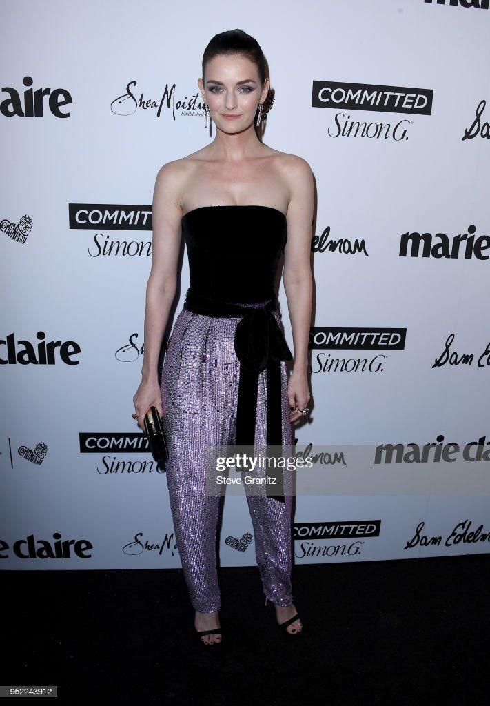 Lydia Hearst attends Marie Claire's 5th annual 'Fresh Faces' at Poppy on April 27, 2018 in Los Angeles, California.