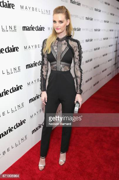 Lydia Hearst attends Marie Claire's 'Fresh Faces' celebration with an event sponsored by Maybelline at Doheny Room on April 21 2017 in West Hollywood...