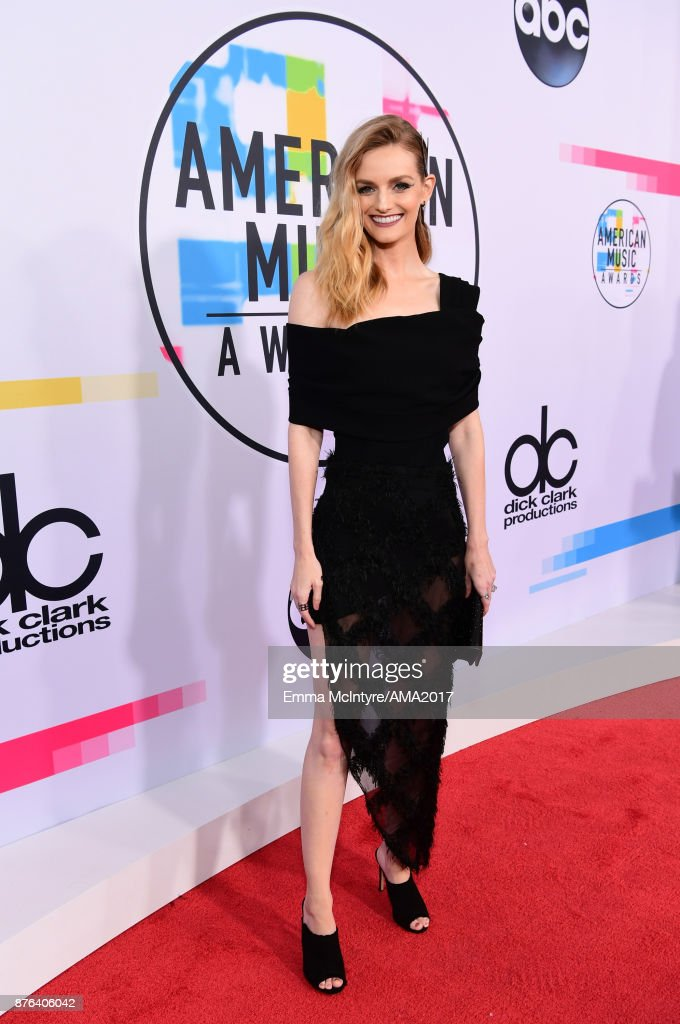 Lydia Hearst attends the 2017 American Music Awards at Microsoft Theater on November 19, 2017 in Los Angeles, California.