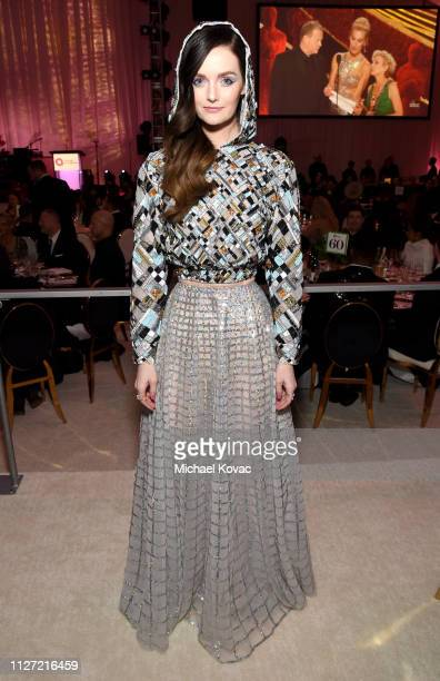Lydia Hearst attends the 27th annual Elton John AIDS Foundation Academy Awards Viewing Party sponsored by IMDb and Neuro Drinks celebrating EJAF and...