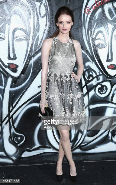 Lydia Hearst attends the alice olivia Fall 2014 presentation with TRESemme at The McKittrick Hotel on February 10 2014 in New York City