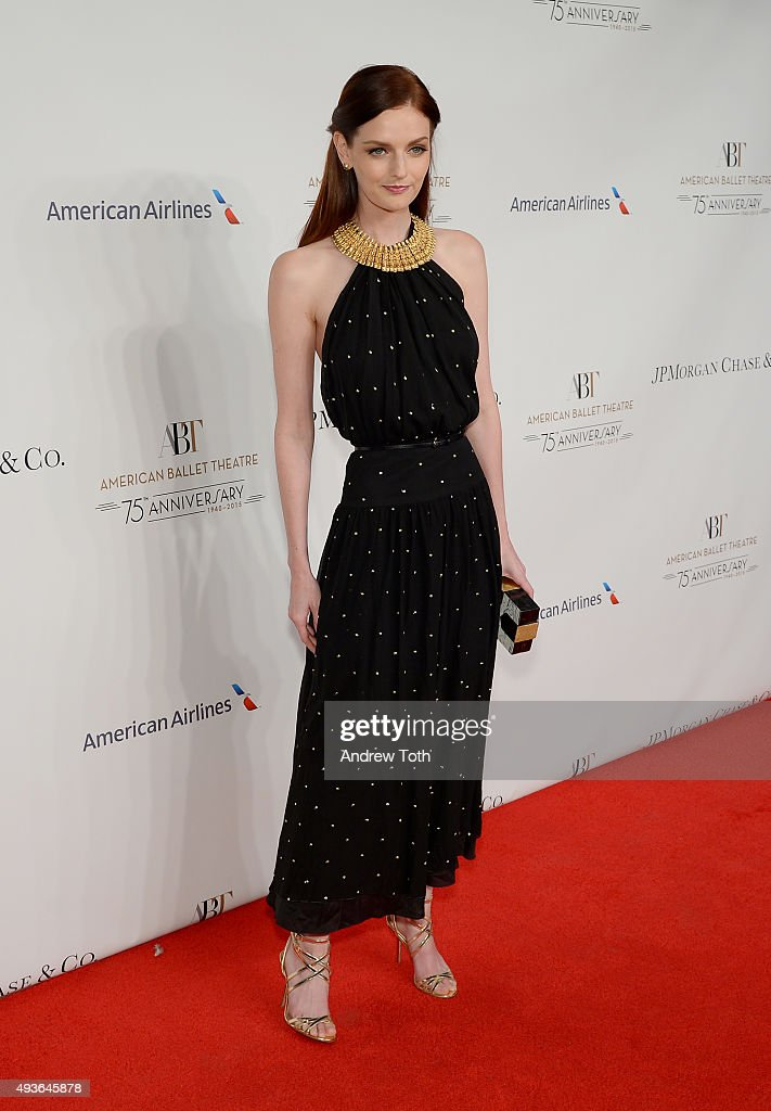 Lydia Hearst attends the American Ballet Theatre's 75th Anniversary Gala at David H. Koch Theater, Lincoln Center on October 21, 2015 in New York City.