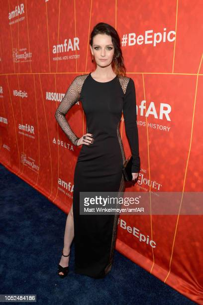 Lydia Hearst attends the amfAR Gala Los Angeles 2018 at Wallis Annenberg Center for the Performing Arts on October 18 2018 in Beverly Hills California