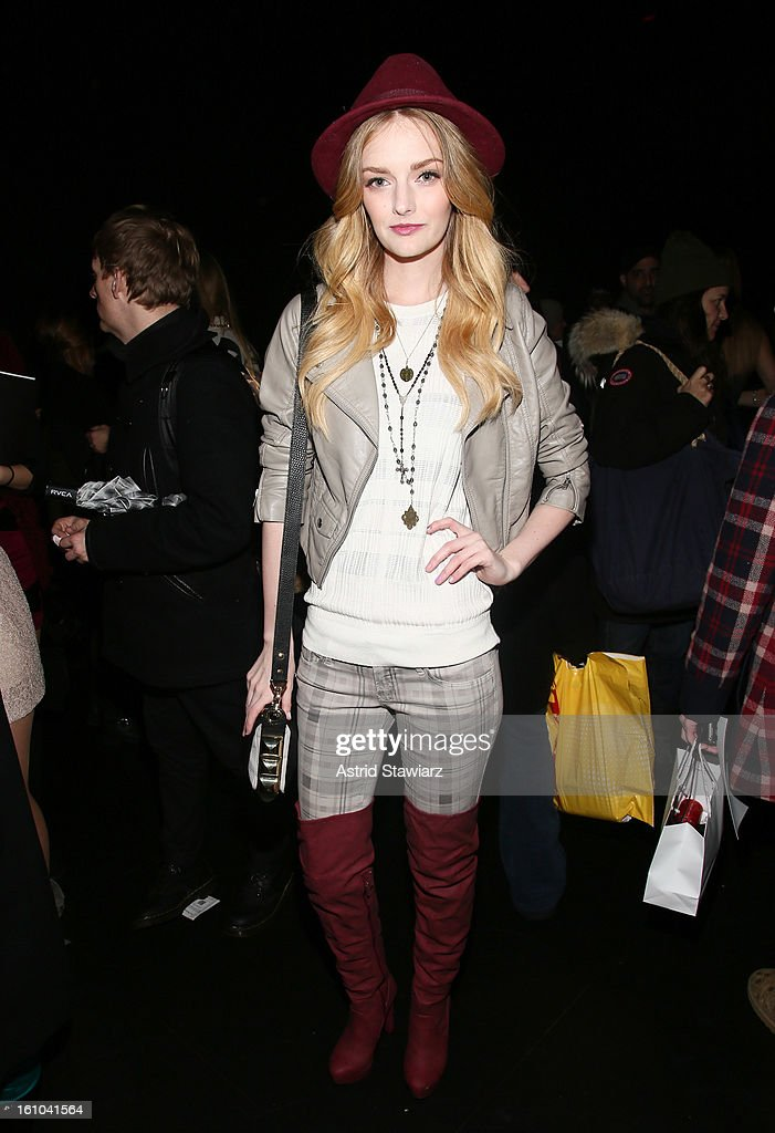 Lydia Hearst attends the Charlotte Ronson Fall 2013 Presentation during Mercedes-Benz Fashion Week at The Box at Lincoln Center on February 8, 2013 in New York City.