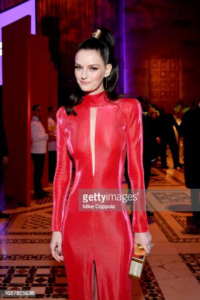Lydia Hearst attends the Elton John AIDS Foundation's 17th Annual An Enduring Vision Benefit at Cipriani 42nd Street on November 5 2018 in New York...