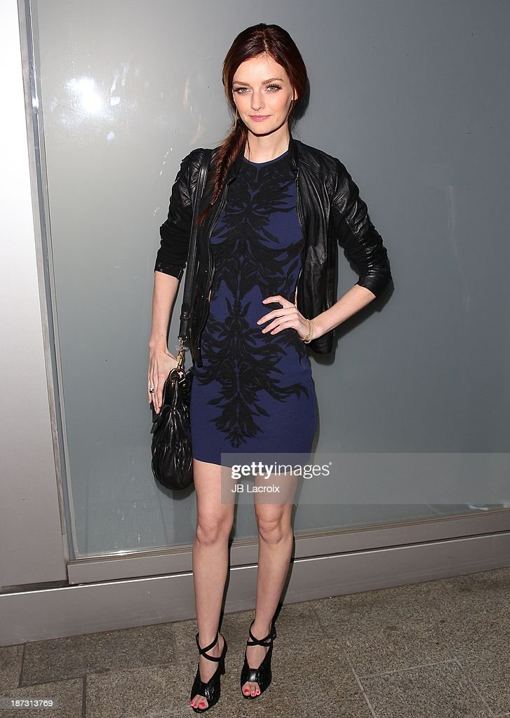 Lydia Hearst attends the Flaunt Magazine Issue Party with Selena Gomez And Amanda De Cadenet held at Hakkasan Beverly Hills on November 7, 2013 in Beverly Hills, California.
