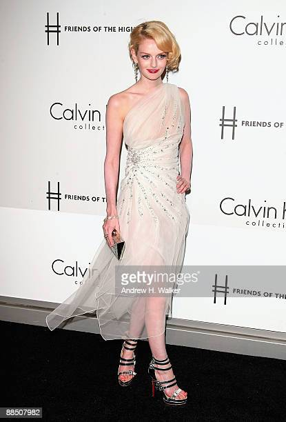 Lydia Hearst attends The High Line's Opening Summer Benefit presented by Calvin Klein Collection at High Line Park on June 15 2009 in New York City