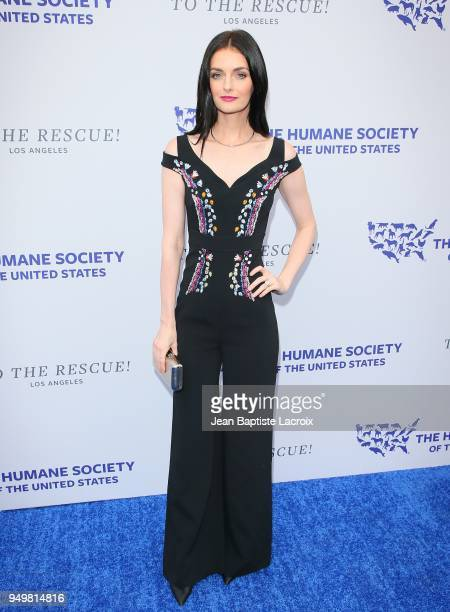 Lydia Hearst attends The Humane Society of The United States' to The Rescue Los Angeles gala held at Paramount Studios on April 21 2018 in Los...