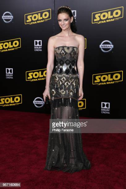 Lydia Hearst attends the premiere of Disney Pictures and Lucasfilm's Solo A Star Wars Story at the El Capitan Theatre on May 10 2018 in Hollywood...