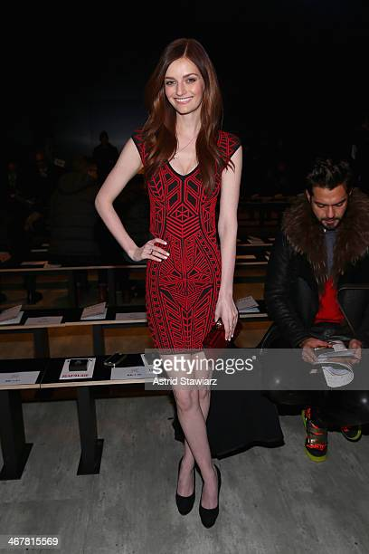 Lydia Hearst attends the Ruffian fashion show during Mercedes-Benz Fashion Week Fall 2014 at The Pavilion at Lincoln Center on February 8, 2014 in...