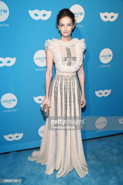 Lydia Hearst attends the Sixth Annual UNICEF Masquerade Ball at Clifton's Republic on October 25 2018 in Los Angeles California
