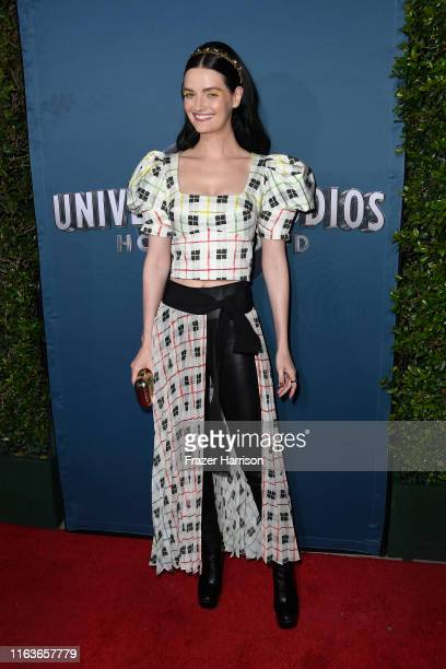 Lydia Hearst attends the Universal Studios Hollywood's Jurassic WorldThe Ride Grand Opening Celebration at Universal Studios Hollywood on July 22...