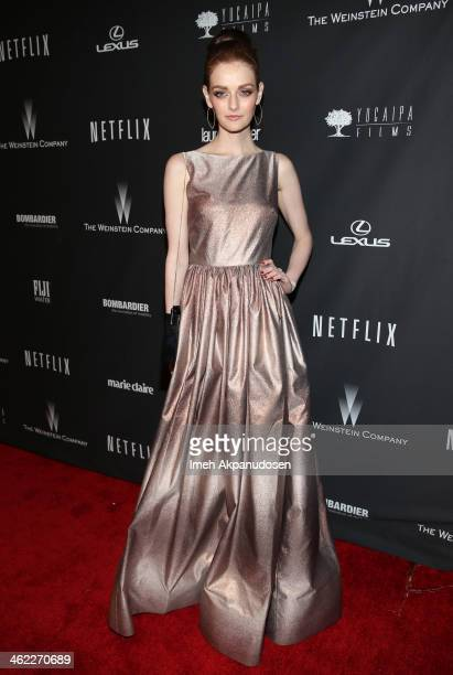 Lydia Hearst attends The Weinstein Company & Netflix's 2014 Golden Globes After Party presented by Bombardier, FIJI Water, Lexus, Laura Mercier,...