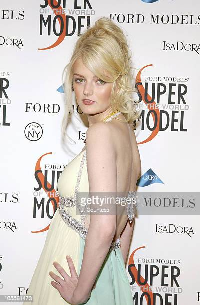Lydia Hearst during Ford Models' Supermodel of the World Contest Arrivals at The FORD Tunnel in New York City New York United States