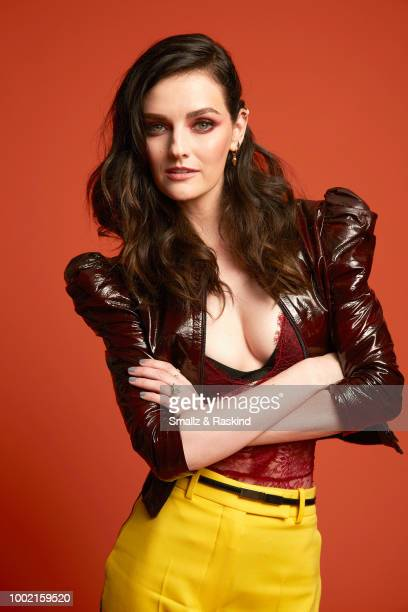 Lydia Hearst from SYFY's 'Z Nation' poses for a portrait in the Getty Images Portrait Studio powered by Pizza Hut at San Diego 2018 Comic Con at...