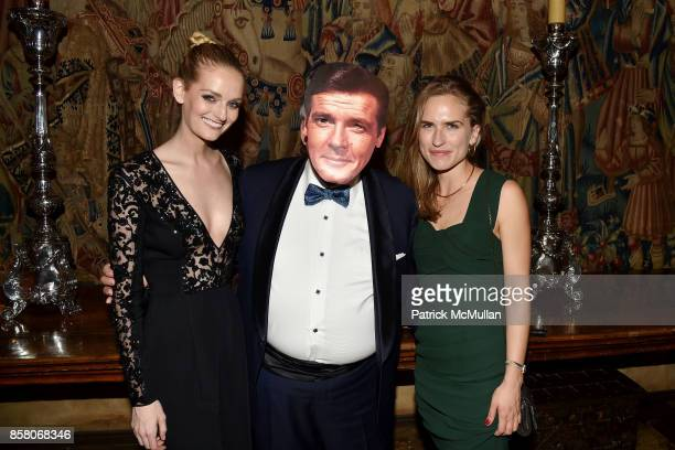Lydia Hearst Kevin Parker and Ashley Bush attend Hearst Castle Preservation Foundation Benefit Weekend 'James Bond 007 Costume Gala' at Hearst Castle...