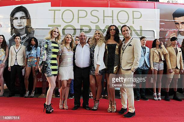 Lydia Hearst, Kristen Bell, Sir Philip Green, Angel Porrino, Miss Nevada USA Jady Kelsall and Josh Strickland during the TOPSHOP TOPMAN Las Vegas...