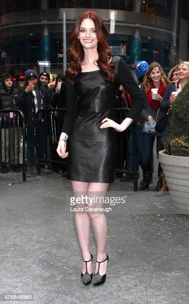 Lydia Hearst rings the Closing Bell at NASDAQ MarketSite on March 5 2014 in New York City