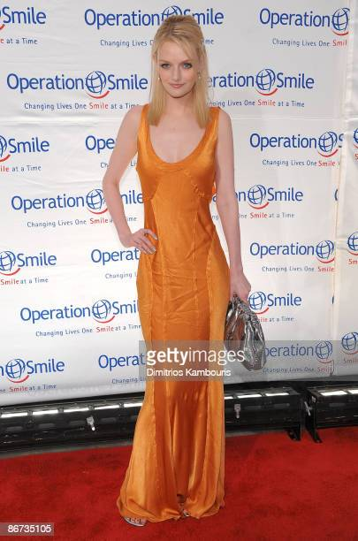 Lydia Hearst walks the red carpet during the 2009 Smile Event presented by Operation Smile at Cipriani Wall Street on May 7, 2009 in New York City.