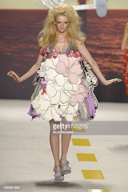 Lydia Hearst wearing Heatherette Spring 2007 during Olympus Fashion Week Spring 2007 Heatherette Runway at The Tent Bryant Park in New York City New...